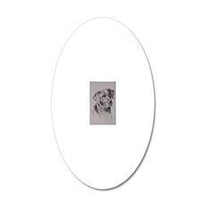 Black_Labrador_Kline 20x12 Oval Wall Decal