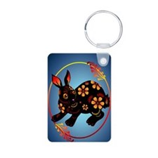 Black Designed Rabbit 441_ Keychains