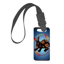 Black Designed Rabbit 441_iphone Luggage Tag