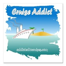 "addict splash Square Car Magnet 3"" x 3"""
