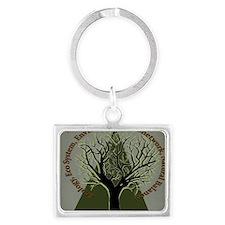 Tree Ecology Landscape Keychain