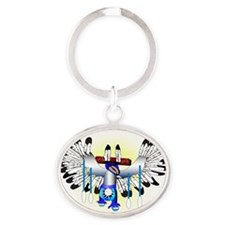 The Dance Oval Keychain