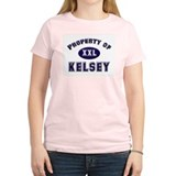Property of kelsey Women's Pink T-Shirt
