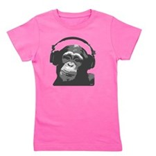 DJ MONKEY grey Girl's Tee