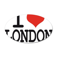 i love london 35x21 Oval Wall Decal