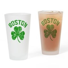 Boston Grunge Drinking Glass