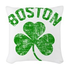 Boston Grunge Woven Throw Pillow