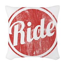 Vintage_Ride Woven Throw Pillow