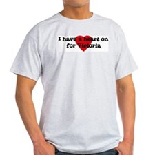 Heart on for Victoria Ash Grey T-Shirt