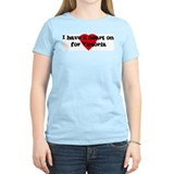Heart on for Victoria Women's Pink T-Shirt