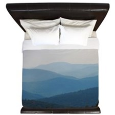 Blue Smokey Mountains #02 King Duvet