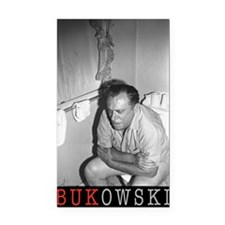 BUKOWSKI ON THE CAN BY SAM CH Rectangle Car Magnet