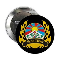 "Flame Free Tibet 2.25"" Button (10 pack)"