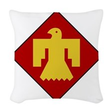45th Infantry Division Woven Throw Pillow