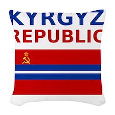 Kyrgyz_SSR Woven Throw Pillow