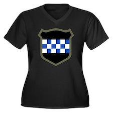 99th Infantr Women's Plus Size Dark V-Neck T-Shirt