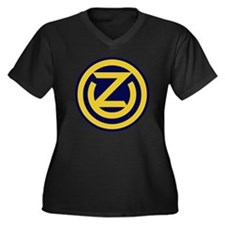 102nd Infant Women's Plus Size Dark V-Neck T-Shirt
