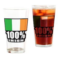 100%-IRISH.2png Drinking Glass