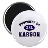 Property of karson Magnet