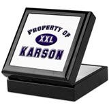 Property of karson Keepsake Box