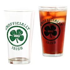 UnofficiallyIrish_shirt_green Drinking Glass
