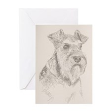 Miniature_Schnauzer_KlineSq Greeting Card