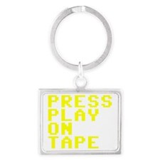Press Play On Tape Landscape Keychain