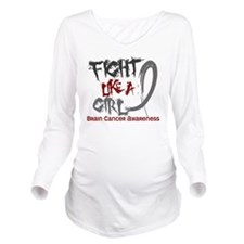 Brain Cancer Long Sleeve Maternity T-Shirt
