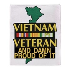 PROUD VIET VET Throw Blanket