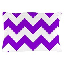 Purple Chevron Pattern Pillow Case