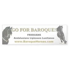 Friesian Bumper Bumper Sticker