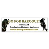 Friesian Bumper Car Sticker