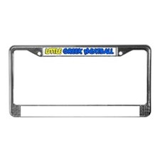 Little Greek Meatball License Plate Frame