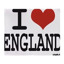I LOVE ENGLAND Throw Blanket