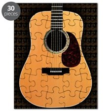 acoustic-guitar-framed panel print copy Puzzle