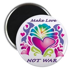 "Make Love Not War 2.25"" Magnet (100 pack)"