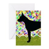 Black Great Dane Greeting Cards (Pk of 10)