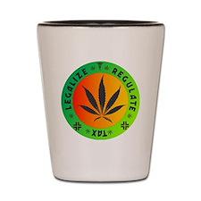 legalize regulate tax round Shot Glass