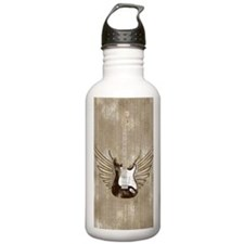 winged-strat-worn-jour Water Bottle