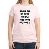If you can read this...(black Women's Pink T-Shirt