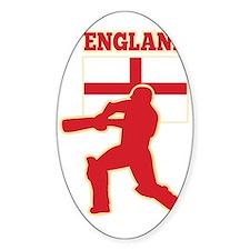 cricket sports batsman England flag Stickers