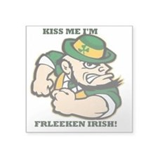 "kiss me frleekinirish logo Square Sticker 3"" x 3"""
