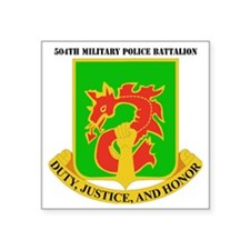 "DUI-504TH MILITARY PLC BN   Square Sticker 3"" x 3"""