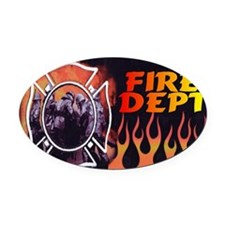 FIRE LIC Oval Car Magnet