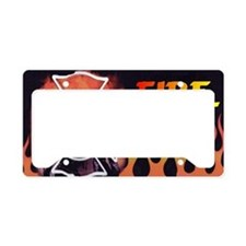 FIRE LIC License Plate Holder