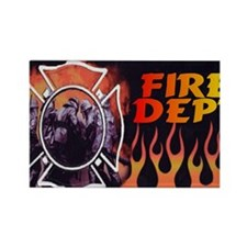 FIRE LIC Rectangle Magnet