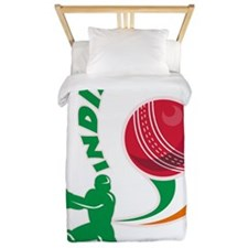 cricket sports batsman batting India Twin Duvet