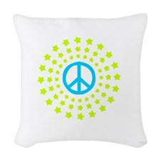 Peace Burst Color Woven Throw Pillow