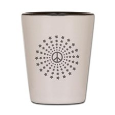 Peace Burst Shot Glass