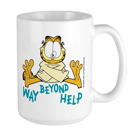 Beyond Help Garfield Large Mug